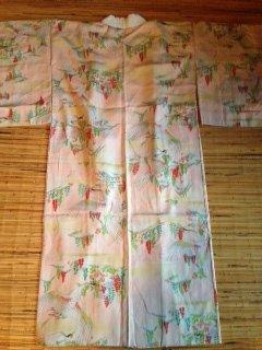 Japans Nagajiban Kimono roze tsuru