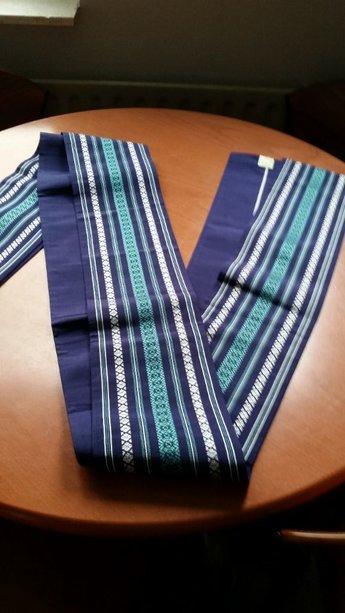 obi blauw met strepen