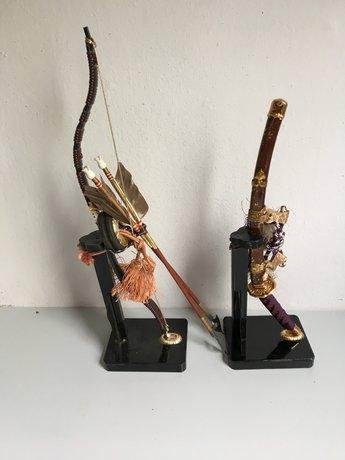 Japans Miniatuur boog en zwaard