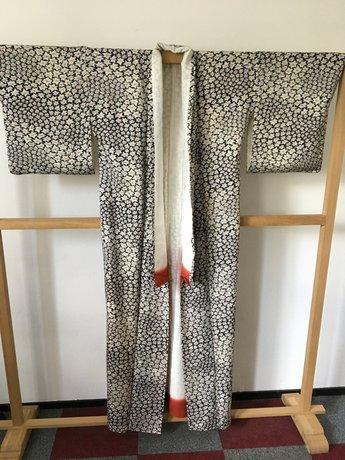 kimono blauw sakura