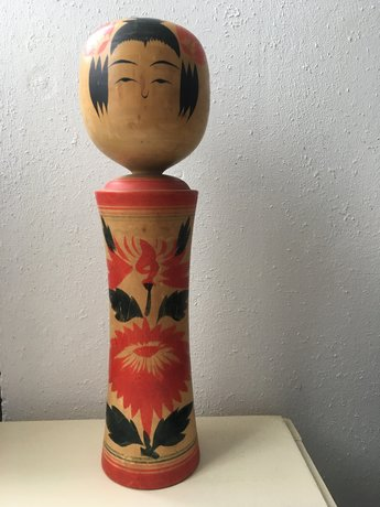 Traditionele Japanse Houten Kokeshi Pop 1