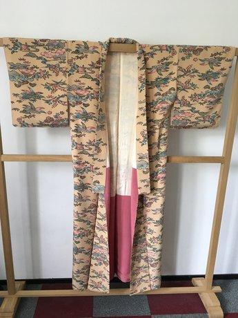 Traditionele Japanse Kimono  beige roze