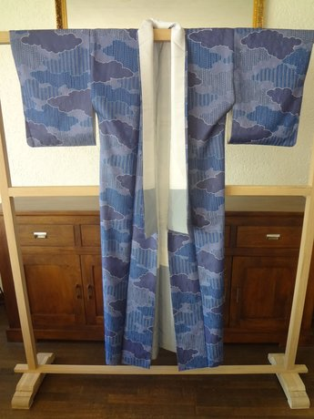 Traditionele Japanse Zijden Kimono ao-bl