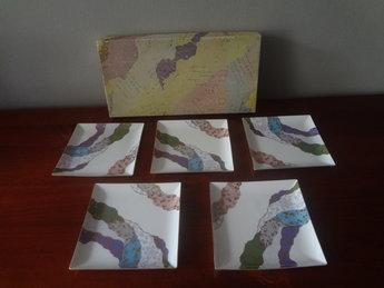 Japans Porseleinen schaaltjes/bordjes 5 stuks Japan Showa JP