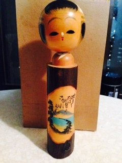 2 vintage Japanse Houten Kokeshi dolls