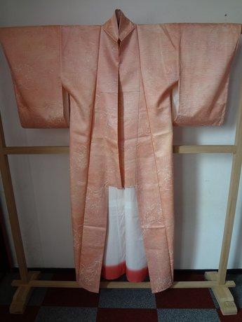 ?Traditionele Japanse Zijden Kimono Rose