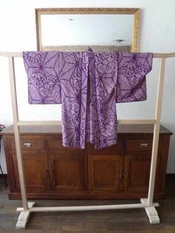 Japanse zijde shibori haori kimono jasje vintage japan showa