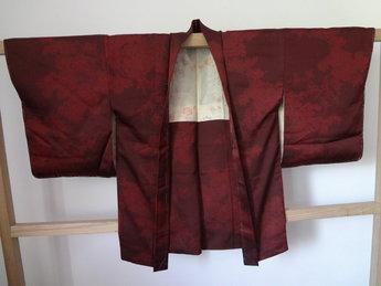 Traditionele Japanse Haori donker Rood Japans Vintage
