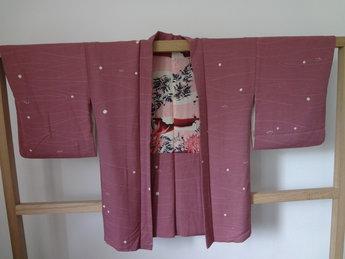 Traditionele Japanse Haori Kimonojasje Donker Rose Japan jas
