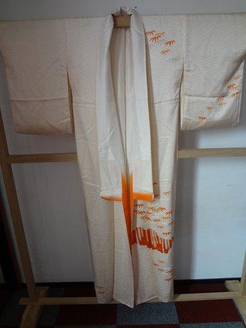 Traditionele Japanse Kimono Oranje Blad Japans Vintage