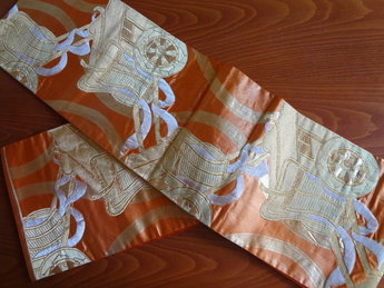 Traditionele Japanse Obi Kimonoband sjerp ceintuur oranje