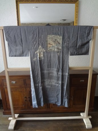 Traditionele Japanse Nagajiban Kimono Tempel