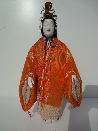 Japanse Pop Oyama-ningyô doll Vintage Antiek Japan