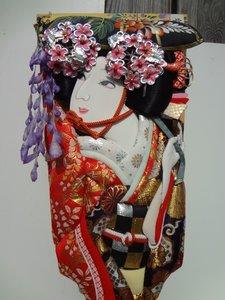 Japanse hagoita peddel geluk ornament Japan kabuki