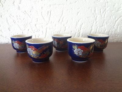 Ocyoko Japans Porselein Sake kop 5 stuks Japan