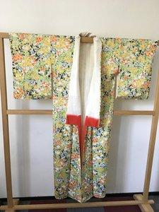 Traditionele Japanse kimono geel oranje bloemen